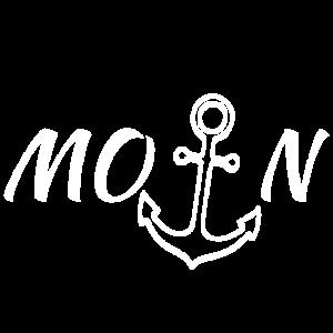 Moin Hamburg Nord Maritim Meer Geschenk Meer Anker