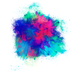 Explosion Feuerwerkskörper farbenfroh
