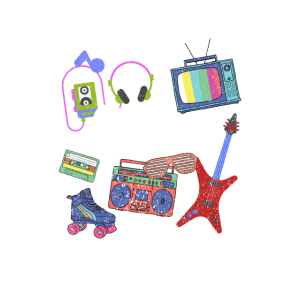 Fantastische Retro 80er Jahre Vintage Throwback Neuheit