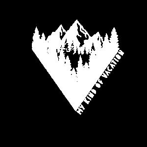 Wander Shirt mit Wald und Bergen