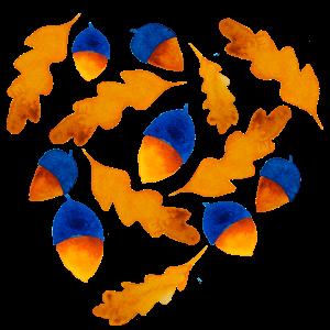 Herbst Muster Eicheln Geschenk