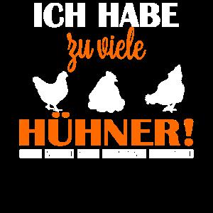 Ich habe zu viele Hühner