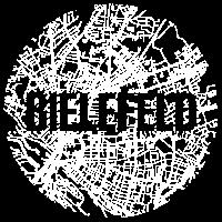 Bielefeld – City Stadtplan Map Karte (weiß)