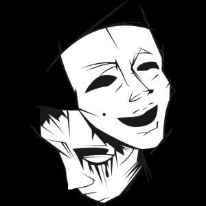 Theater Maske Fröhlich Traurig