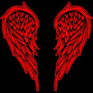 Flügel Rot