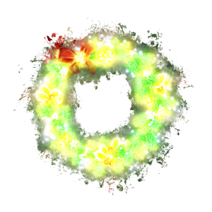 Kranz Weihnachtskranz hell glühend