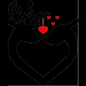 Niedliches Liebe Hirsch Reh Tier Verliebt