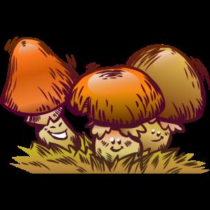 Lustige Pilze Comic Design