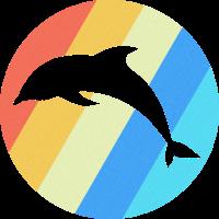 Delfin Meereslebewesen Retro Geschenk