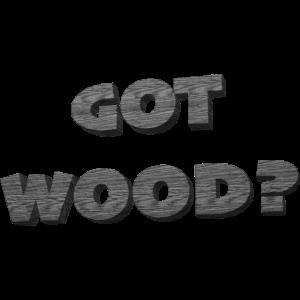 Got Wood Schwarzweiss Shirt