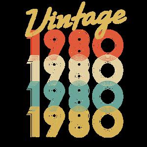 Vintage Retro seit 1980 Geburtstagsgeschenk