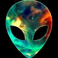 Galaxy Alien Space Weltraum Kopf Gesicht Weltraum