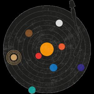 Vinyl Schallplatte Planeten Sonnensystem Universum