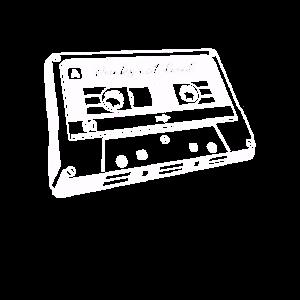 80er 90er RETRO MUSIKKASSETTE ZURÜCK SKATEN KOSTÜM