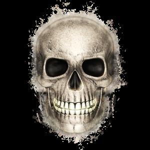Schädel Tag der Toten hell glühend