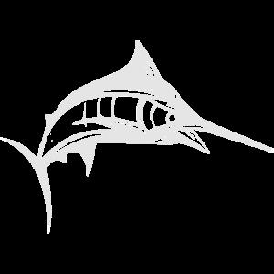 Marlin Fisch Sportfischer Angler T-Shirt