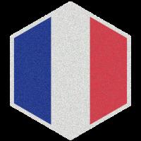 Hexagon - Flagge von Frankreich