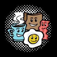 Frühstücks T-Shirt Geschenk Für Kaffee Liebhaber
