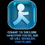 Vertraue dem HERRN deine Pläne an tolles Geschenk
