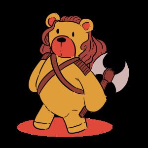 Teddy Bear warrior Love Bear Loving gift