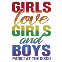 Girls Love Girls and Boys Panik Disco Geschenk