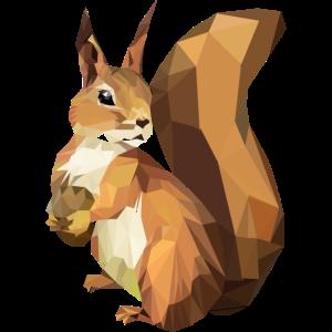 Eichhörnchen machen mich glücklich, low poly