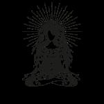 Yogagirl Boho Style Hippie in tiefer Meditation