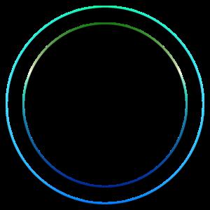 zwei blaue Kreise ( Ringe ) mit Schatten