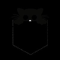 Cat in a pocket - Katze in der Tasche