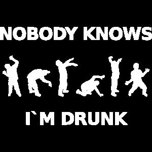 Keiner weiß, dass ich betrunken bin
