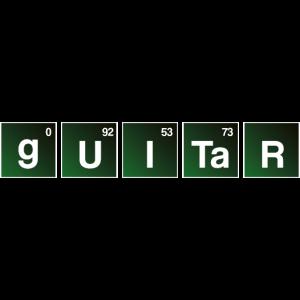 Guitar Bad Periodensystem Gitarre Shirt
