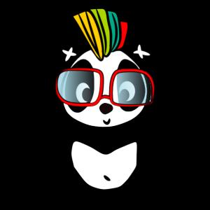 Panda Pandas lustiger Pandabär I love Panda Bear