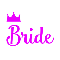Bride mit Krone JGA Party pink