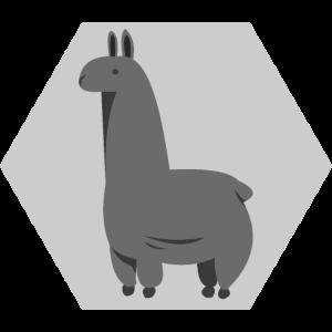 Alpaka - Grau - Polygon