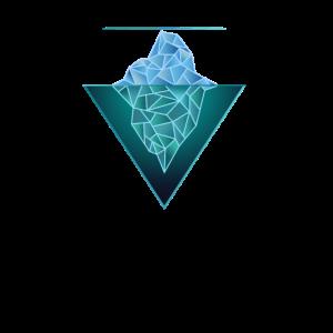 Eisberg Geometric Print Heilige Geometrie Berge
