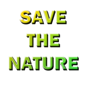 save the nature dropshadow