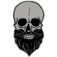 Totenkopf - mit Bart