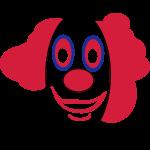 Lustiges clownsgesicht