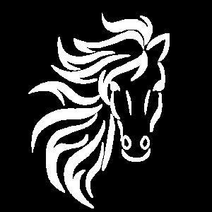 Pferd Tribal schwarz-weiß Pferdefreund Tattoo