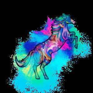 Pferd Tier farbenfroh