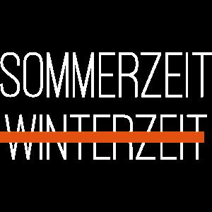 sommerzeit winterzeit white