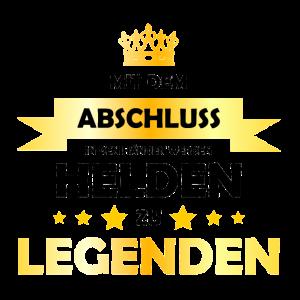 Helden Legenden Abitur 2019 Abifeier Spruch