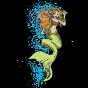 Vollfarbige Illustration der Meerjungfrau