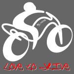 ich liebe mein Motorrad Fahrrad weiss rotes Design