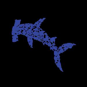 Hammerhai Silhouette aus Meeresbewohnern