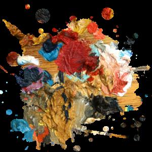 Farbkleckse oder Kunstwerk