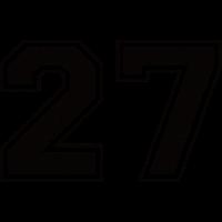 Zahl 27 im Used Look