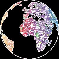 Welt Weltkarte bunt abstrakt Frieden Liebe cool