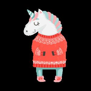 Einhorn Weihnachten Unicorn Christmas Ugly