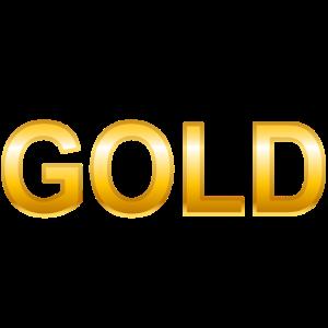 Gold Schriftzug Glänzend Geschenk Wort